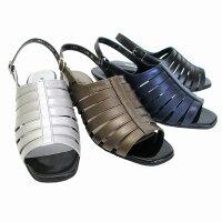 [ハッシュパピー]【履くほどに愛着が湧く、手放せない1足になりそう。】HushPuppiesL-7436レディース天然皮革サンダルバックストラップ仕事靴通勤靴ブラック