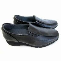 [アシックスペダラ]【履くほどに愛着が湧く、手放せない1足になりそう。】asicspedalaWP679Mレディースコンフォートシューズウォーキングシューズ3Eスリッポン革靴仕事靴通勤靴ブラック(90)