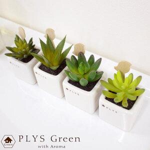 PLYSgreen(プリスグリーン)プリスグリーンアロマディフューザーフェイクグリーン造花多肉植物