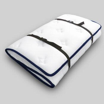 敷き布団のようなポケットコイルマットレスホワイトダブル