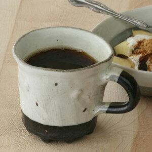 和食器■粉引黒釉マグカップ■まぐかっぷ コップ カップ フリーカップ コーヒーカップ 湯のみ おしゃれ モダン 素敵 お正月 クリスマス プレゼント 陶器 手作り 贈り物 結婚祝い