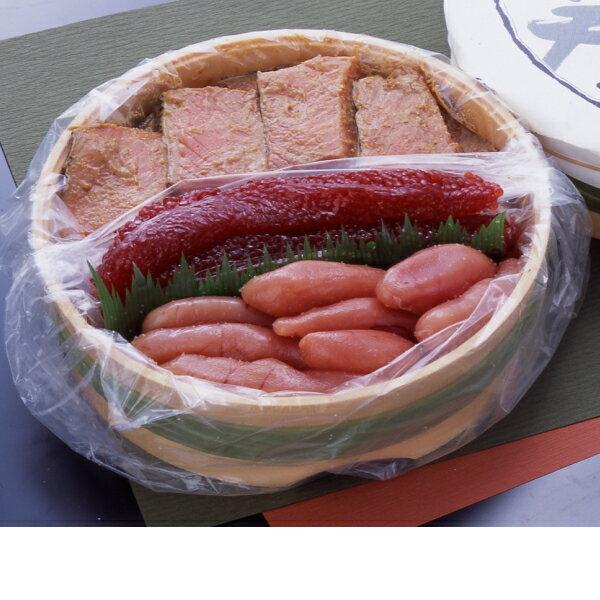 三色樽詰め1400g[鮭の味噌漬(800g)筋子(300g)たら子(300g)]タル入り、御中元、夏の贈り物、ギフトにおすすめ、のし対応、ご飯のおかず