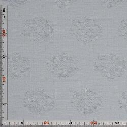 西陣織・緞子・グレー・表具地(化繊表具地)・混紡(正絹、化繊)・半巾30cm長さ10cm単位和柄生地布地はぎれ