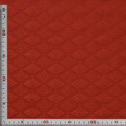 西陣織・緞子・茶・菱・正絹(本シルク)・半巾30cm長さ10cm単位和柄生地布地はぎれ