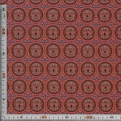 西陣織・赤・表具地(化繊)・混紡(正絹、化繊)・半巾30cm長さ10cm単位和柄生地布地はぎれ