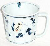 有田焼 軽量・軽い 唐草(濃薄墨) 和陶マグカップ プレゼント ギフト 贈リ物 祝 お祝い 記念品