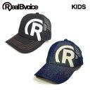 セール リアルビーボイス RealBvoice キッズ ジュニアサイズ メッシュキャップ R-MARK KIDS COTTON MESH CAP