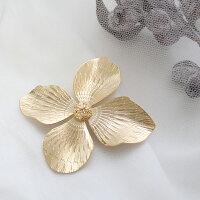 ブローチ花フラワー大ぶり真鍮アンティーク風北欧風日本製おしゃれかわいい大人カジュアルストールデイリー普段使い着物浴衣和装ギフトギフトプチギフトプレゼントルチカ