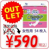 アテント尿とりパッドスーパー吸収約2回分女性用(54枚入)/アース製薬