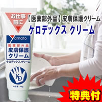 3特典【送料無料+お米+ポイント】 3個セット 医薬部外品 皮膚保護クリーム ケロデックスクリーム 48g 見えない手袋 ケロデックスクリーム
