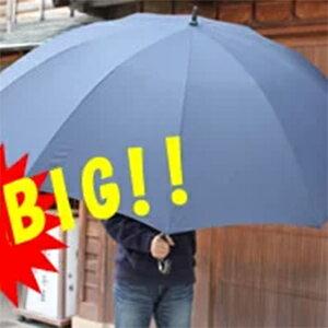 《クーポン配布中》 大きい 傘 紳士 メンズ 直径160cm 大型 傘 かさ UVION 90cm長傘 キングサイズ BIGかさ 大型かさ 3人入れる 大判雨かさ 巨大傘 キングサイズ雨傘 大型アンブレラ 大型雨傘 大判傘 ユビオン ビッグサイズ 大きめ 車 乗降 送迎 介護 超大型