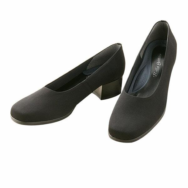 き フォーマル靴喪服靴冠婚葬祭レディースパンプスオフィスおしゃれ履きやすい疲れにくいヒール女性ブラック黒ローヒールシューズ