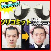 ソリコミット SR-01 ソリコミ・M字用ウィッグ 人毛100% M字はげ隠しシート 男性用かつら メンズウィッグ つけ毛 部分かつら