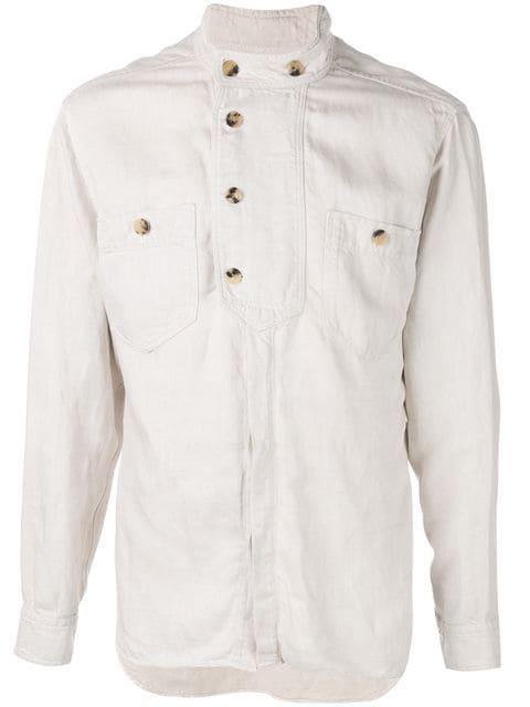 トップス, カジュアルシャツ  Isabel Marant button collar shirtWhite