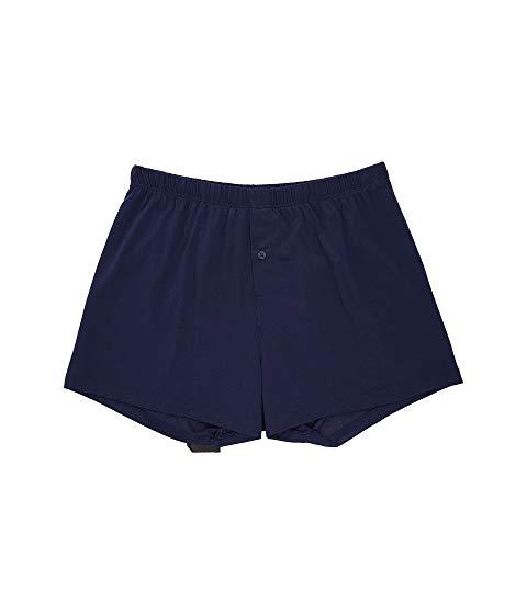 ハンロ ボクサーパンツ 下着 メンズ【Hanro Cotton Sporty Knit Boxer】Midnight Navy