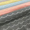 ◇◇ダブルガーゼで登場!!Fun*Fun*Stripe(ファンファンストライプ)≪ふんわ〜りWガーゼ≫※108cm幅 コットン100%