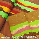 ▼ハンバーガー☆大好き♪≪オックスプリント≫※110cm幅 ...