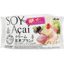 マツモトキヨシ楽天市場店で買える「アサヒグループ食品株式会社 クリーム玄米ブラン 豆乳アサイーベリー 2枚X2袋」の画像です。価格は112円になります。