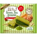 マツモトキヨシ楽天市場店で買える「アサヒグループ食品株式会社 クリーム玄米ブラン 抹茶のブラウニー 70g」の画像です。価格は112円になります。