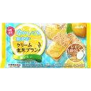 マツモトキヨシ楽天市場店で買える「アサヒグループ食品株式会社 クリーム玄米ブラン 塩レモン 2枚X2袋」の画像です。価格は112円になります。