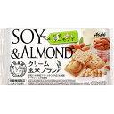 マツモトキヨシ楽天市場店で買える「アサヒグループ食品株式会社 クリーム玄米ブラン 豆乳アーモンド 2枚X2袋」の画像です。価格は112円になります。