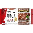 マツモトキヨシ楽天市場店で買える「アサヒグループ食品株式会社 バランスアップ クリーム玄米ブラン カカオ 2枚×2袋」の画像です。価格は122円になります。