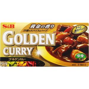 ヱスビー食品 ゴールデンカレー 中辛 198g