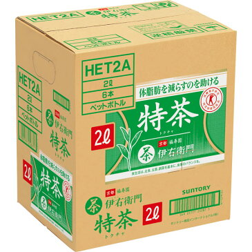 サントリーフーズ サントリー緑茶 伊右衛門 特茶 2L×6