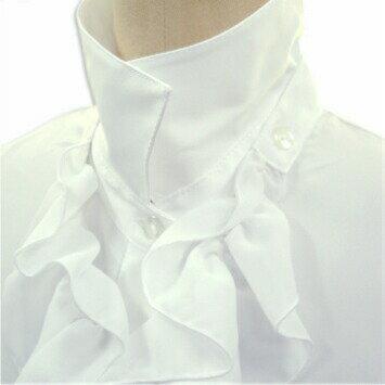【ラッキーシール対応】 女の子 シャツ 子供服 2WAY カスケードフリルシャツ 白 長袖 シフォンフリル 付け外し可 合繊 130 140 150 160 170 発表会 フォーマル 2500 白シャツ