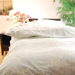 楽天1位★本物のガーゼ《軽い・快適》ガーゼ1枚仕立て布団カバー/プチフラワー柄(リバーシブル)/セミダブ170×210cm日本製松並木の敏感肌にもやさしい無添加ガーゼ1重掛け≪軽〜い≫布団カバー