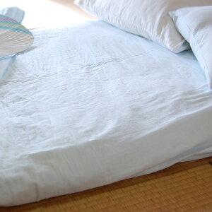 楽天1位本物のガーゼ5重敷布団&敷きマット用フラットシーツダブルサイズ210×250cm/カラー無地・ピンク、ブルーベージュ冬はあったか、夏はさらり。肌に優しい吸汗速乾/丸洗いOK松並木【日本製】