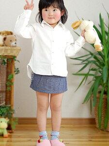 肌に優しい【NuddyCotton】ガーゼ2重キッズ子供用長袖シャツ【日本製】