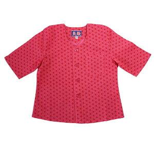 こいくち 子供 鯉口 シャツ ピンク麻の葉サイズ:JS・JM・JL・JLL素材:綿100%従来の鯉口シャツとは違い立体的に縫製をし、特に首回りやアームホールの着心地にこだわりました。女の子用の左前開きタイプもございます!
