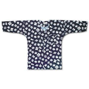 江戸一 子供用 鯉口シャツ 柄 紺まとい素材:綿100%0号、1号、2号、3号