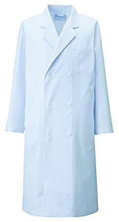 KAZEN(カゼン) メンズ診察衣W型長袖 115-71(サックス) M