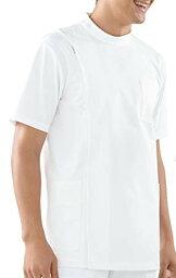 KAZEN(カゼン) メンズ医務衣 半袖 253-10(ホワイト) 5L