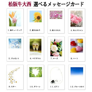 一般ギフト用選べるメッセージカード(メッセージ文は選択肢から選ぶか、備考欄へご入力下さい。)
