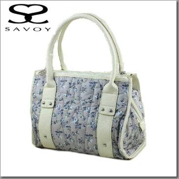 サボイ【SAVOY】レディスバッグ キルティング小花柄ナイロン手提げ25SM134621-08