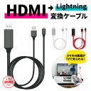 【全品P10倍! 8/9 1:59まで】 HDMI変換アダプタ Lightning HDMI 高解像度 iPhone iPad 対応 ライトニングケーブル スマホ ゲーム カーナビ TV ポイント消化 在宅 テレワーク