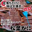 【送料無料】足1本落ち・松葉がに【活生】超特大 1枚 1.2...