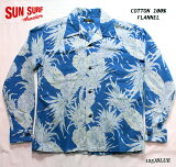 """SUNSURFサンサーフアロハシャツCOTTONFLANNELLONGSLEEVEOPENSHIRT""""PINEAPPLE""""StyleNo.SS28525"""
