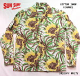 """SUNSURFサンサーフアロハシャツCOTTONFLANNELLONGSLEEVEOPENSHIRT""""NIGHTBLOOMINGCEREUS""""StyleNo.SS28526"""
