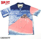 "SUNSURF×北齋サンサーフアロハシャツRAYONS/S""凱風快晴""StyleNo.SS37917"