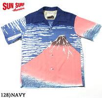 "SUNSURF×北齋サンサーフアロハシャツRAYONS/S""凱風快晴""StyleNo.SS37917"