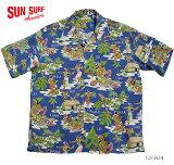 "SUNSURFサンサーフアロハシャツRAYONS/S""LUAU""StyleNo.SS38025"