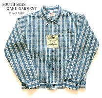 "SOUTHSEASOAHUGARMENT""10.25ozPALAKACHECKWORKBLOUSE""StyleNo.SS14058"