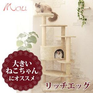 ジャンプ力の無くなった老猫でも無理なく登れる高さのステップと、大型の猫でも使いやすい猫タワー