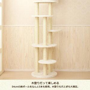 スリムでシンプルな突っ張りタワー/高い所が好きなねこちゃんに/キャットタワー/トルテ/突っ張り/送料無料/おまけ付き