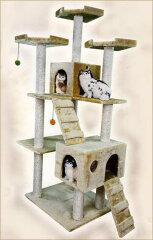広さも高さもgood!複数のネコちゃんが遊べる贅沢なキャットタワー送料無料!!!キャットタワー【...