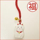 招き猫ねつけ/まねきねこストラップ/紅白/合格祈願/福猫
